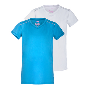 Girls` Short Sleeve Tennis Top