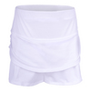 Girls` Pindot Rouched Tier Tennis Skort 110_WHITE