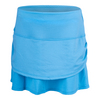 Girls` Pindot Rouched Tier Tennis Skort 410_OCEAN