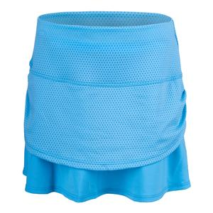 Girls` Pindot Rouched Tier Tennis Skort