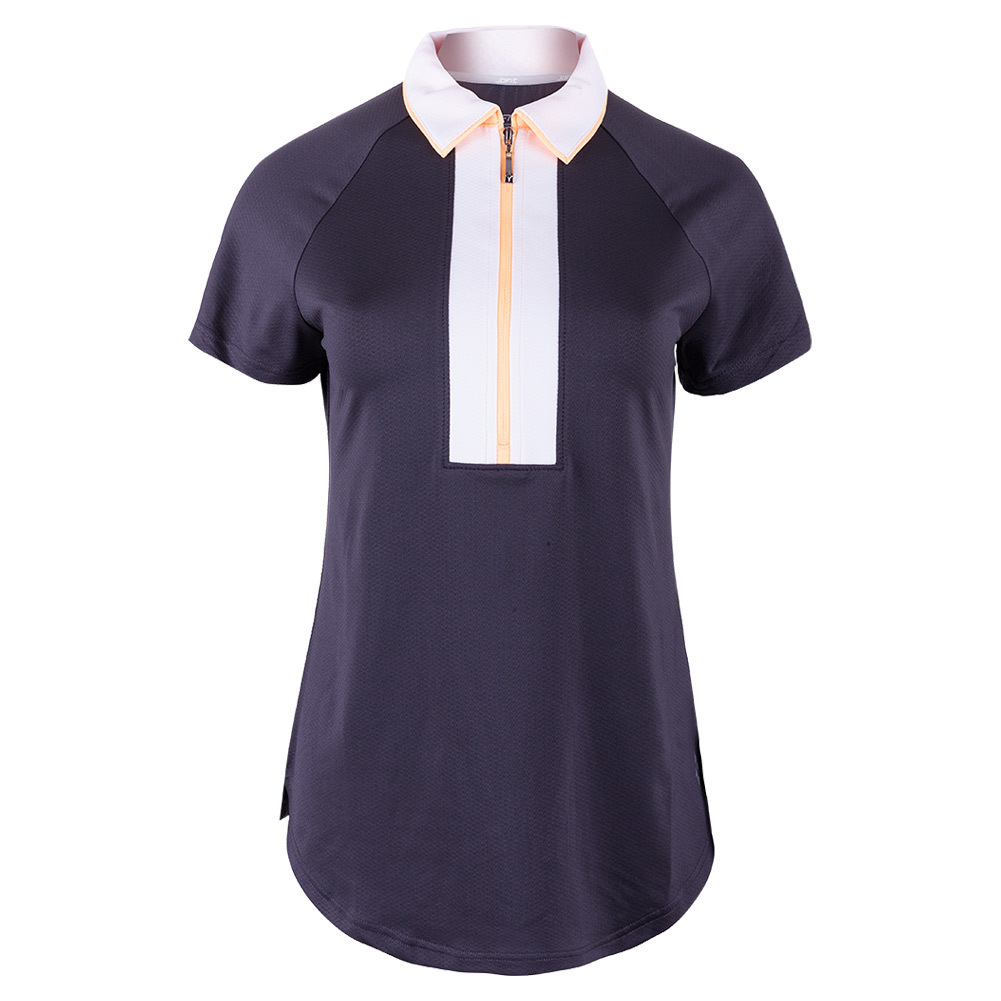 Women's Wide Placket Tennis Polo Slate