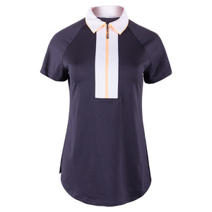 Women`s Wide Placket Tennis Polo Slate