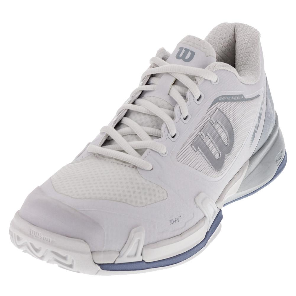 Women's Rush Pro 2.5 Tennis Shoes White And Pearl Blue