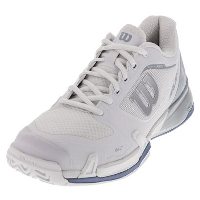 Women`s Rush Pro 2.5 Tennis Shoes White and Pearl Blue