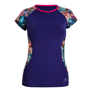 Women`s Classic Mock Sleeve Tennis Top Indigo