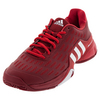 Men`s Barricade 2016 Tennis Shoes Power Red and White by ADIDAS