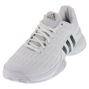 Men`s Barricade Tennis Shoes White and Collegiate Navy