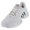 Men`s Barricade Tennis Shoes White and Collegiate Navy by ADIDAS
