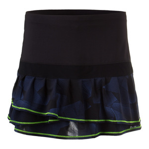 Women`s Long Starburst Pleat Tier Tennis Skort Slate