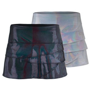 Women`s Iridescent Scallop Tennis Skort