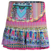 LUCKY IN LOVE Women`s Long Disco Gypsy Pleat Tennis Skort Print