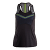LUCKY IN LOVE Women`s Starburst Racerback Tennis Top Slate
