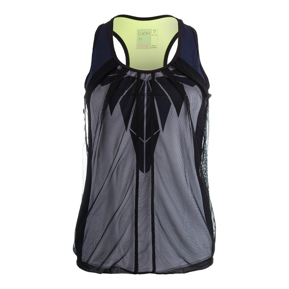 Women's Eclipse Mesh Drape Tennis Tank Slate