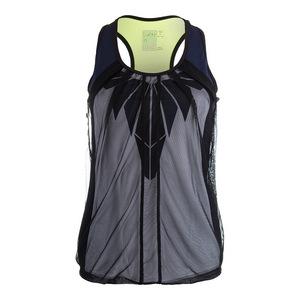 Women`s Eclipse Mesh Drape Tennis Tank Slate