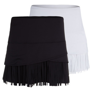 Women`s Long Fringe Scallop Tennis Skort