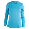 LUCKY IN LOVE Women`s Long Sleeve SPF Tennis Crew Ocean