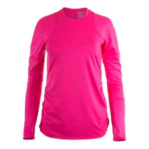 Women`s Long Sleeve Tennis Crew Shocking Pink