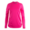 LUCKY IN LOVE Women`s Long Sleeve Tennis Crew Shocking Pink