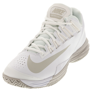 Women`s Lunar Ballistec 1.5 Tennis Shoes White and Summit White