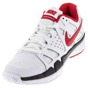 Men`s Air Vapor Advantage Tennis Shoes White and Black