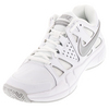 NIKE Women`s Air Vapor Advantage Tennis Shoes White and Medium Gray
