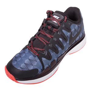Women`s Zoom Vapor 9.5 Tour Tennis Shoes Black and Ember Glow