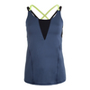 LUCKY IN LOVE Women`s Crossback Tennis Cami Slate