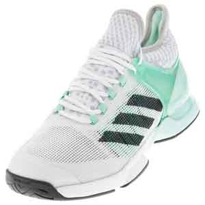 Men`s Adizero Ubersonic 2 Tennis Shoes Ice Green and DGH Solid Gray