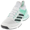 ADIDAS Men`s Adizero Ubersonic 2 Tennis Shoes Ice Green and DGH Solid Gray