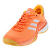 ADIDAS Men`s Barricade 2017 Boost Tennis Shoes Glow Orange and White