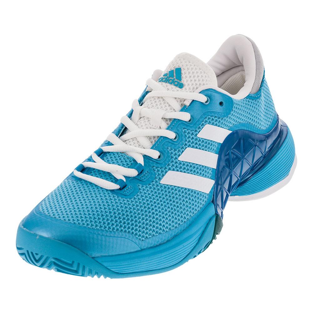 Men's Barricade 2017 Tennis Shoes Samba Blue And White