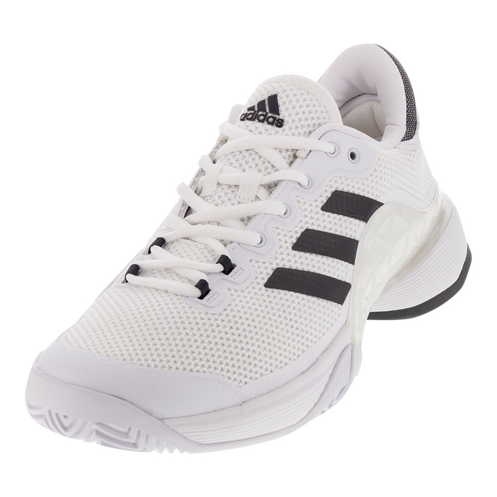 adidas s barricade 2017 tennis shoes white and solid gray