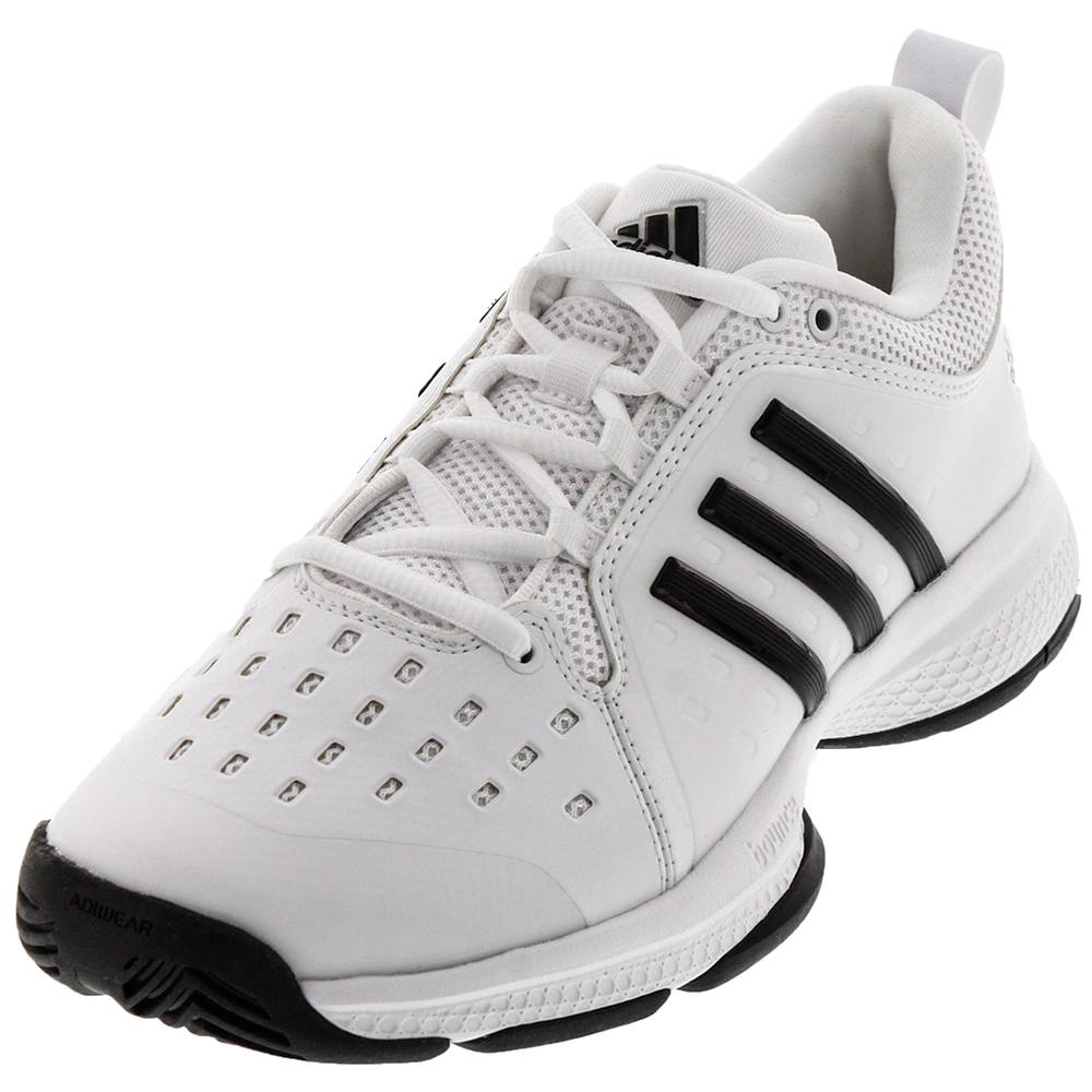 856a1a8db adidas Junior s Barricade Classic Bounce Tennis Shoes White and Black