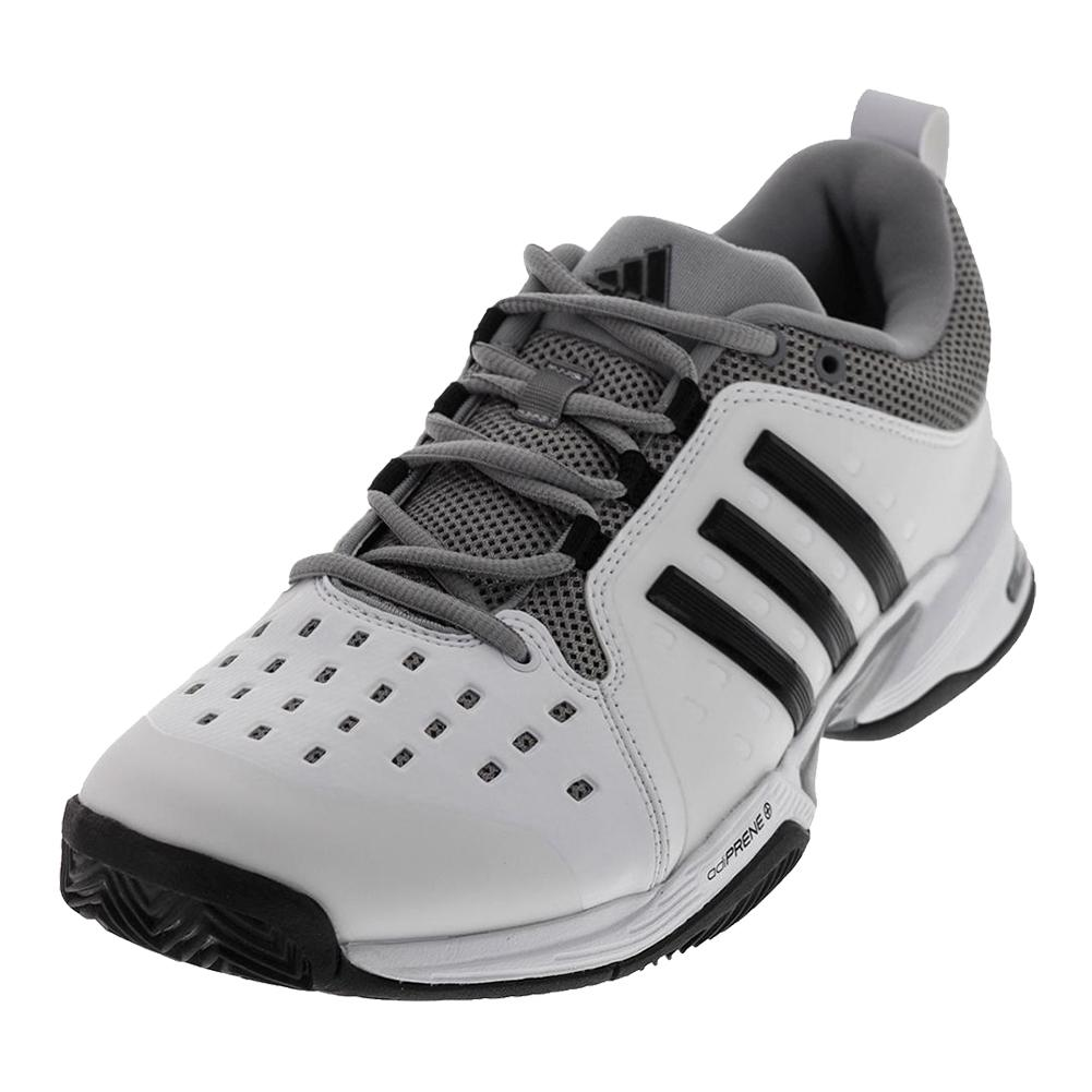 on sale c1d96 d9fc3 ADIDAS ADIDAS Mens Barricade Classic Wide 4e Tennis Shoe White And Black