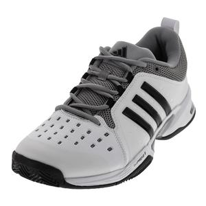 Men`s Barricade Classic Wide 4E Tennis Shoe White and Black
