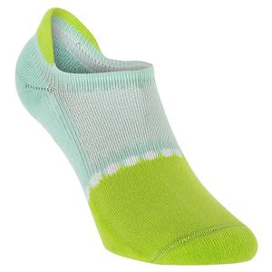 Women`s Light Weight Low Cut Tab Tennis Socks Mint and Lime