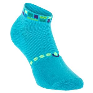 Women`s Light Weight Low Cut Tennis Socks Turquoise