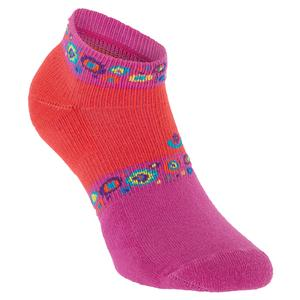 Women`s Light Weight Low Cut Tennis Socks Coral and Pink