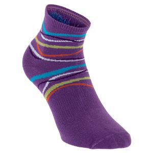 Women`s Light Weight Anklet Tennis Socks Violet