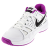 NIKE Women`s Air Vapor Advantage Tennis Shoes White and Hyper Violet