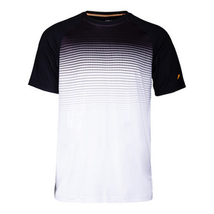 Men`s Platinum Printed Tennis Crew White and Black