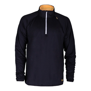Men`s Platinum Quarter Zip Tennis Top Black