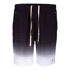 Men`s Platinum Printed Tennis Short Black and White