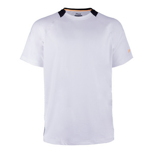 Men`s Platinum Laser Cut Tennis Crew White and Black