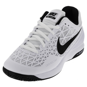 Men`s Zoom Cage 2 Tennis Shoes White and Cool Gray