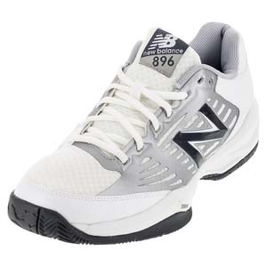 Men`s 896 D Width Tennis Shoes White and Blue