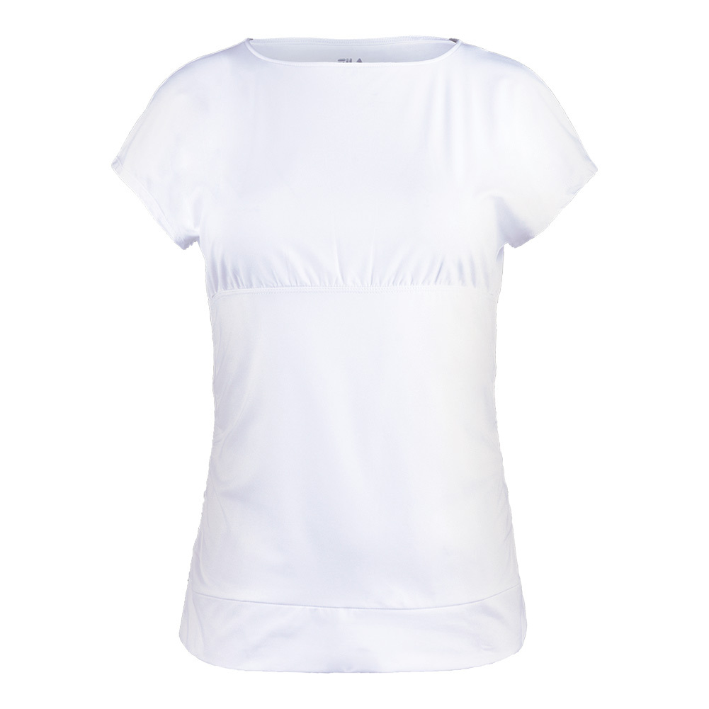 Women's Court Couture Short Sleeve Tennis Top White