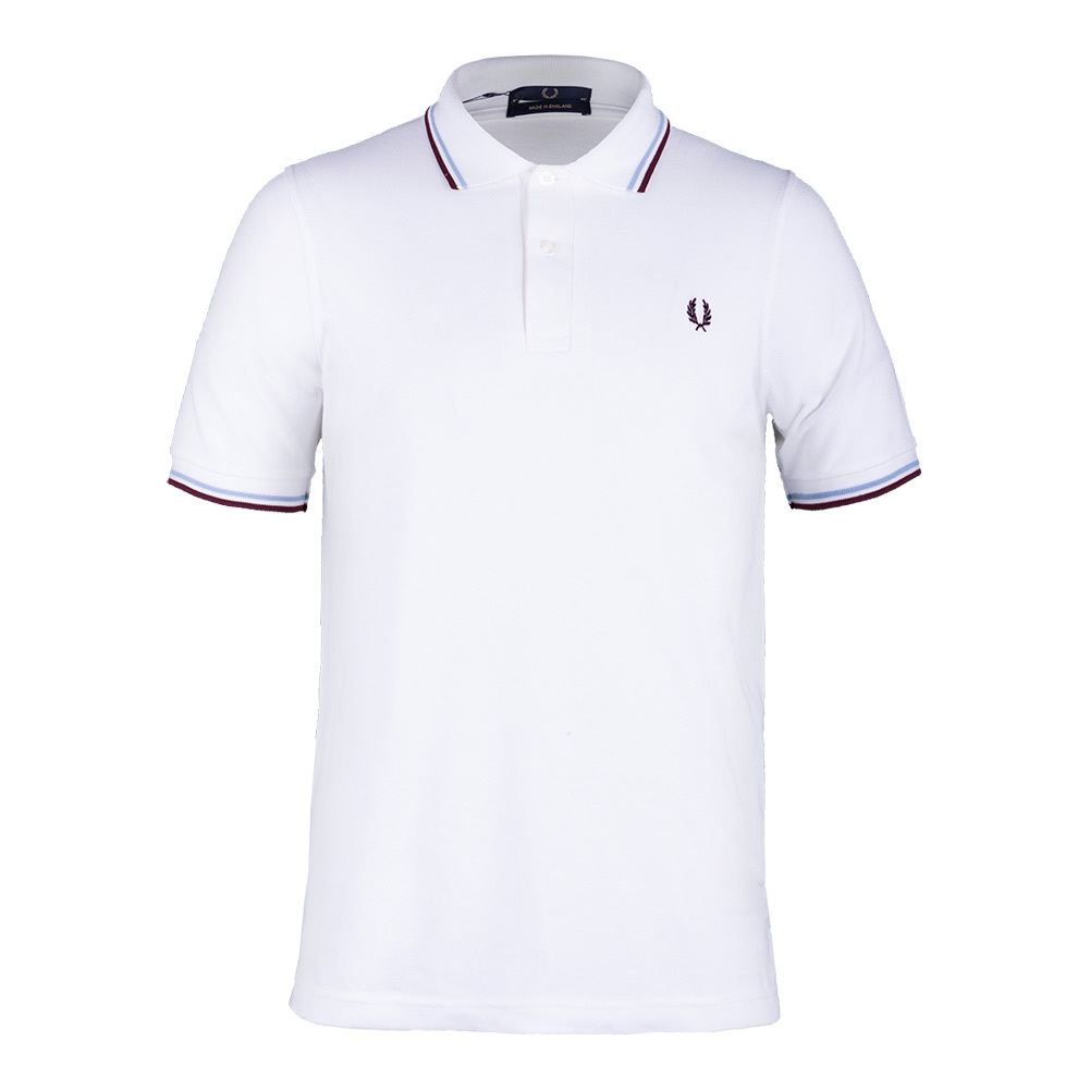 Men's Twin Tipped Tennis Polo White And Ice