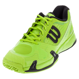 Men`s Rush Pro 2.0 Tennis Shoes Granny Green and Black