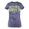 LOVEALL Women`s Home is Where the Court Is Tennis Tee Gray Burnout